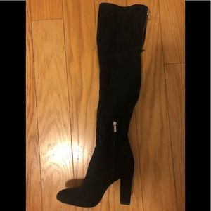 Ivanka Trump over-the-knee black suede boots